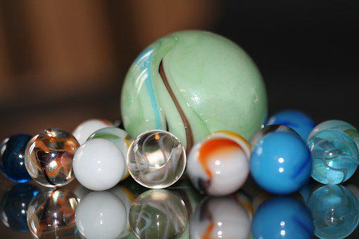 Marbles, Toys, Children, Cats Eye, Cob, Glass Marbles