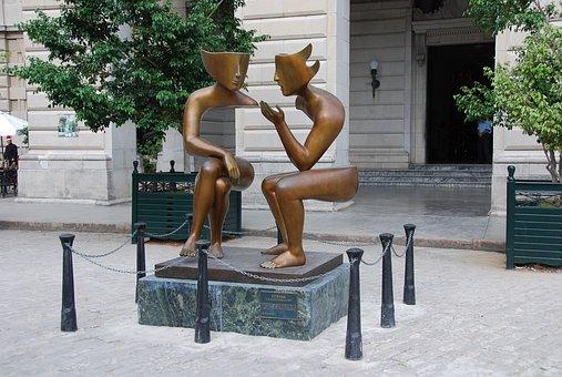 Statue, Illusion, Cuba, Old Havana, Sculpture, Saint