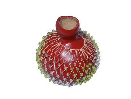 Gourd, Red Gourd, Red, Beaded Gourd, Beads, Decoration
