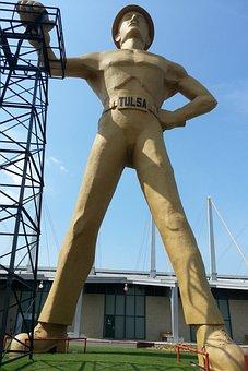 Tulsa, City, Oklahoma, Statue, Male, High, State Fair