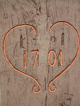 Love, Heart, Romance, Old, 1701