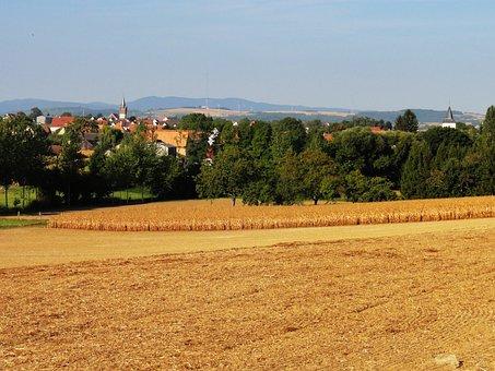 Schnersheim, France, Landscape, Scenic, Summer, Sky