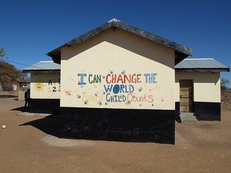 School, Building, South Africa, Wall, Graffiti, Written