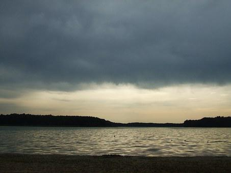 Lake, Rainy Mood, Abendstimmung, Clouds