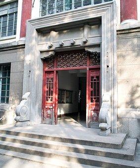 Door, Building, Chinese, School, University