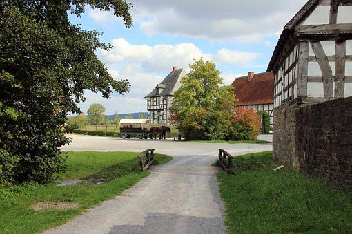 Village, Building, Houses, House, Truss, Fachwerkhaus