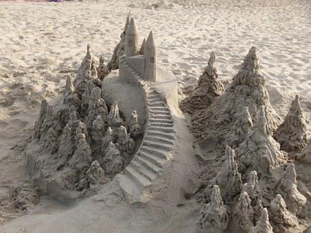 Sand Castle, Beach, Vacation, Coast, Seashore, Sand