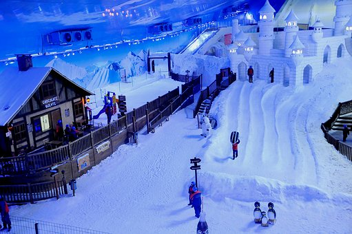 Snowland, Lawn, Brazil, Park, Snow, Under The Roof