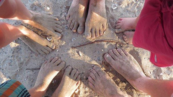 Barefoot, Feet, Beach, Sand, Sand Beach, Summer, Sandy