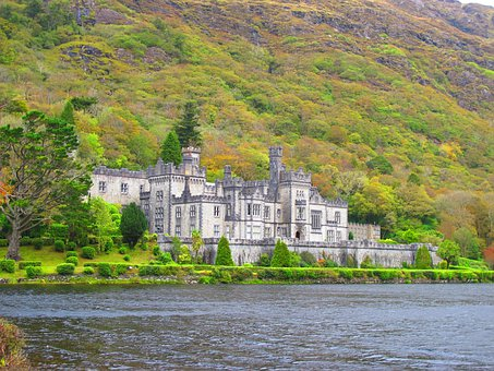 Castle By The Sea, Water, Ireland, Nature, Building