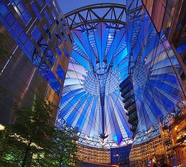 Sonycenter, Berlin, Night Night, Architecture