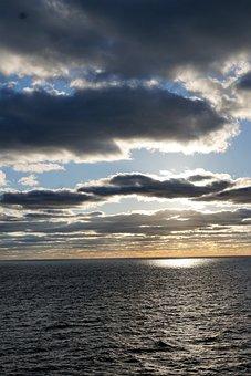 Sky, Ocean, Sea, Atlantic, Water, Blue, Transatlantic