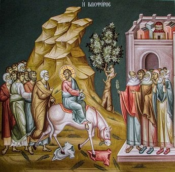 Entry Into Jerusalem, Iconography, Church, Orthodox
