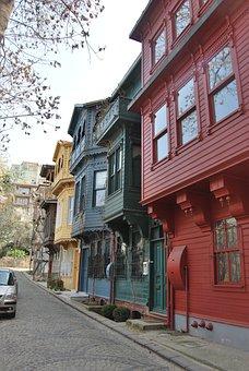 Istanbul, Turkey, Kuzguncuk, Konak, Alley, Road, Homes