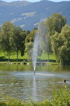 Water Fountain, Ritzensee, Saalfelden