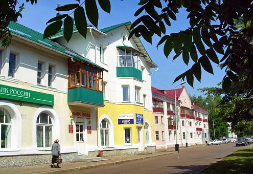 Salavat, Russia, Buildings, Architecture, Woman