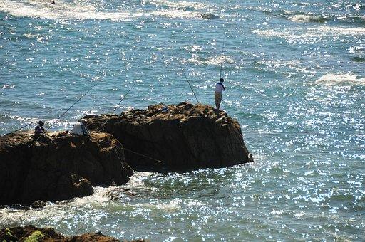 Morocco, Assilah, Mother, Fisherman, Sea, Rocks