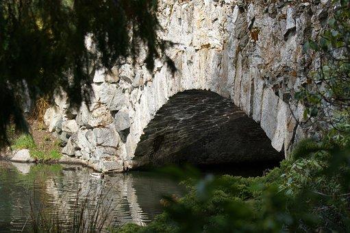 Bridge, River, Nature, Lake, Summer, Pretty, Scenery