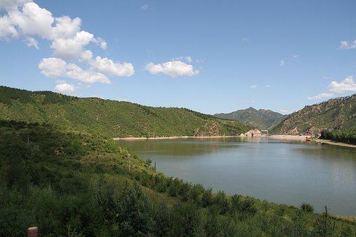 Lake, Ulan Butong, Blue Sky