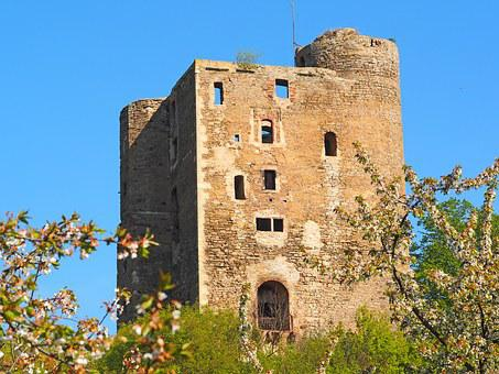 Old And Young, 1000 Years Old, Castle Ruin Of Arnstein