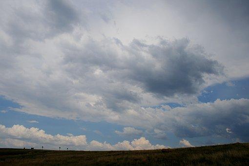 Wide Sky, Horizon, Cloud, White, Variety Cloud, Nature
