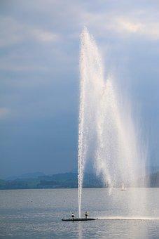 Lake, Water, Fountain, Water Fountain, Wassergist