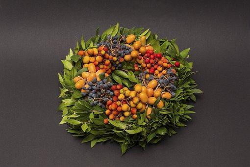 Autumn, Autumn Wreath, Bouquet, Flowers, Berries