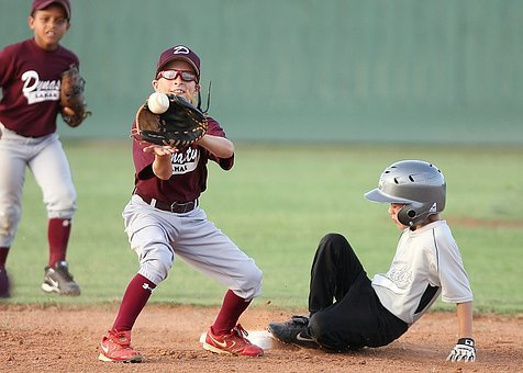 Baseball, Action, Second Base, Players, Little League