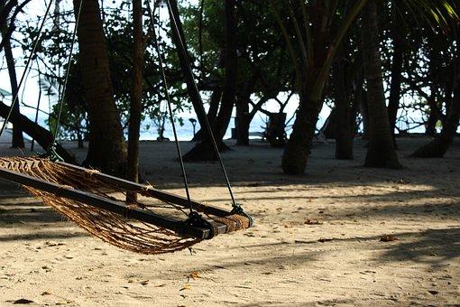 Maldives, Island, Hammock, Summer, Beach, Holiday