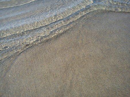 Wave, Clear, Water, Beach, Sand, Grains, Grains Of Sand