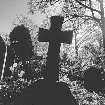 Graveyard, Crucifix, Halloween, Cemetery, Religion