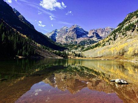 Aspen, Maroon Bells, Colorado, Landscape, Autumn