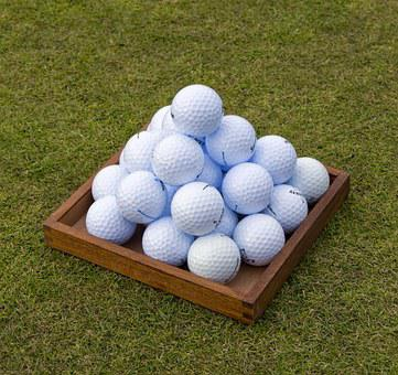 Golf, Golf Balls, Pyramid, Practice, Driving Range