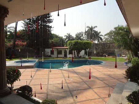 Backyard, View, Drops, Cristal, Pool