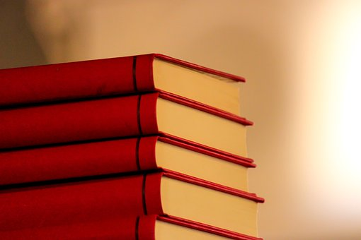Books, Stack, Red, Library, Education, Study