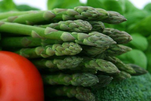 Asparagus, Broccoli, Cherry, Fiber, Food, Fresh, Green