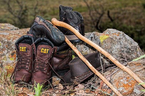 Boots, Hiking, Walking, Footwear, Leather, Shoes