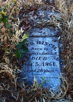 Pioneer, Died, Dead, 1800s, Forgotten, Head Stone