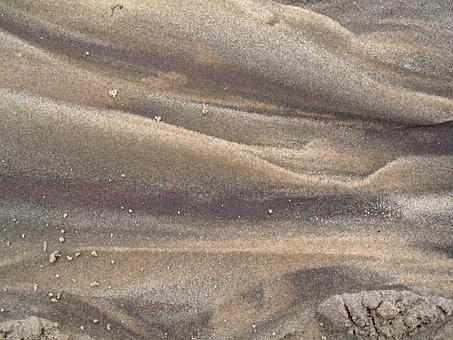 Sand, Beach, Nature, Contours, Grains, Earthy Colors