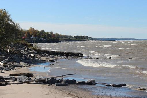 Lake Erie, Buffalo, New York, Water, Landscape, Nature