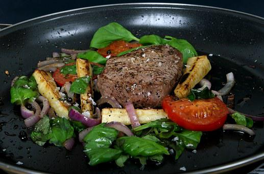 Beef, Food, Ingredients, Lettuce, Meat, Oregano, Red
