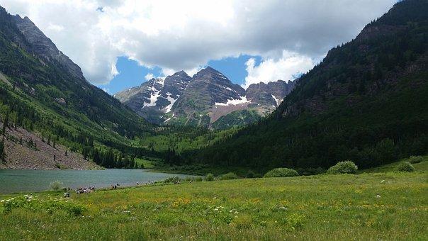 Maroon Bells, Colorado Mountains, Colorado, Bells