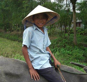 Vietnam, Boy, Smiling, Nature, Outside, Portrait