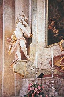 Honigschlecker, Putto, Plaster Figure, Chalk Figure