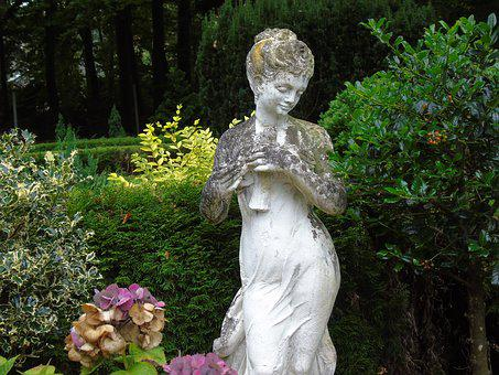 Cemetery, Figure, Sculpture, Woman, Melancholic, Pray