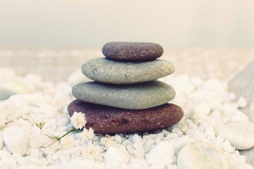 Stones, Meditation, Balance, Relaxation, Gartendeko