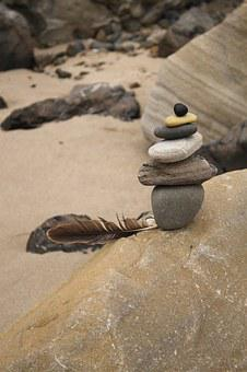 Serene, Sculpture, Serenity, Calm, Rocks, Stones