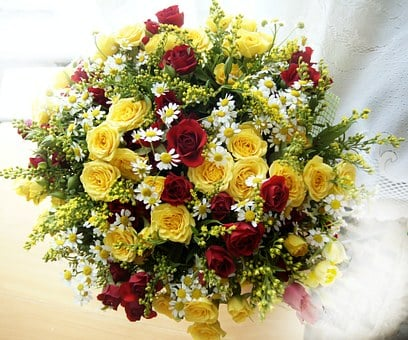 Bouquet, Flowers, Roses, October, Autumn, Bright, Color