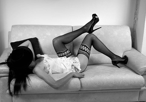 Sensual, Sensuality, Body, Woman, Black And White