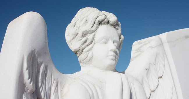 Angel, Sculture, Sky, Blue, Old, Cemetery, Grave, Stone